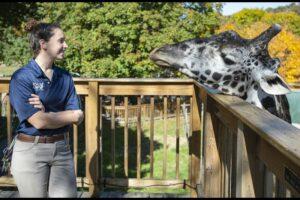 Murphy the giraffe by RICK KINTZEL